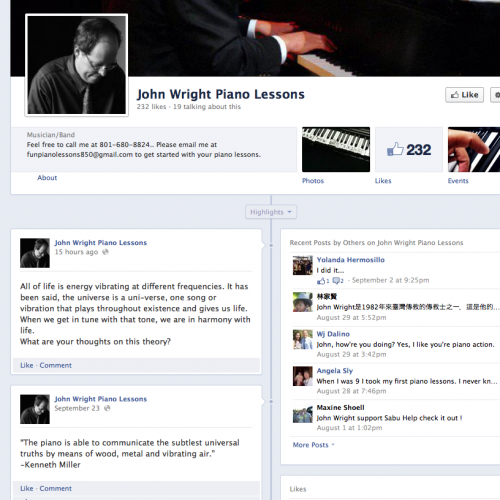 John Wright Piano Lessons