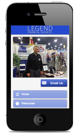 Legend Financial Mobile Site
