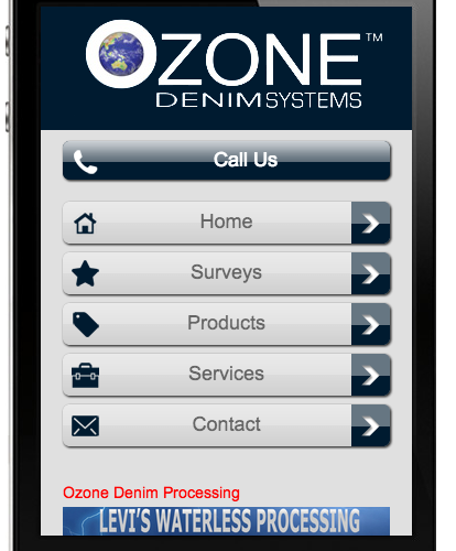Ozone Denim Mobile Site